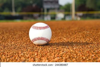 Baseball on Infield