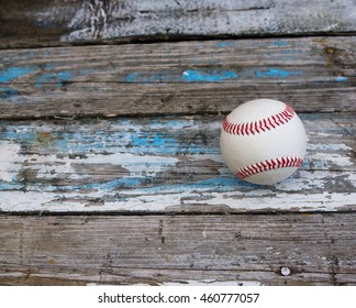 baseball on an old wooden background