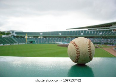 Baseball On Outfield Seat