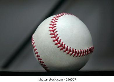 Baseball on the rack