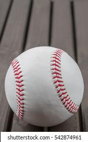 Baseball on wooden background