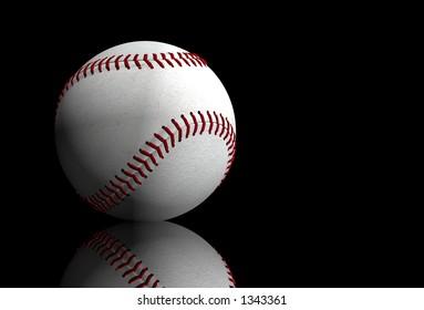 baseball over black - 3d illustration