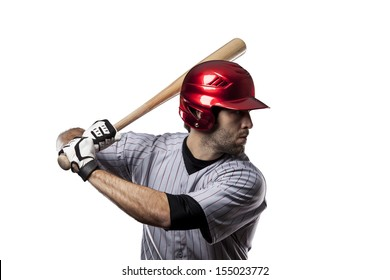 Baseball Player on a White background