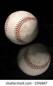 baseball with reflection