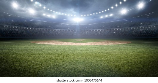 baseball stadium 3d rendering