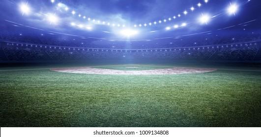 baseball stadium 3d rendering