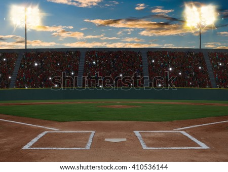 Baseball Stadium at sunset