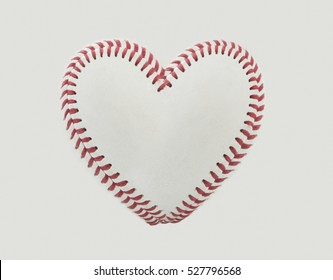 Baseball Stitches in the Shape of a Heart