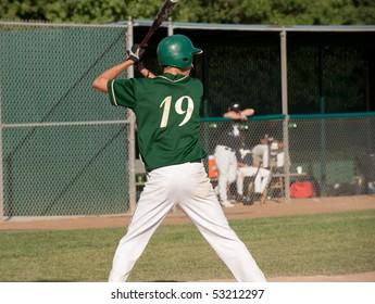 baseball team looking onto game in progress