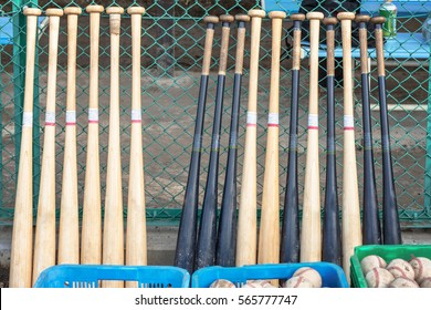 The baseball tool which is put in order