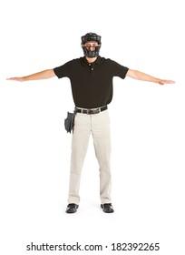 Baseball: Umpire Signalling Runner Is Safe