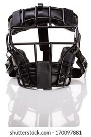 Baseball: Umpire's mask, isolated on white.
