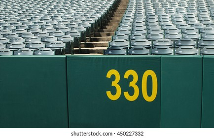 Baseball wall with copy space. Home run wall fence.