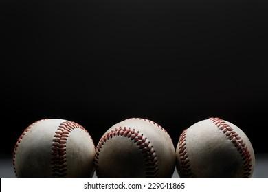 Baseballs in a row