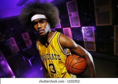 baseketball afro head