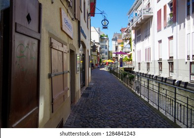 Basel, Switzerland - 12 August 2018 - A view from the streets of Basel.