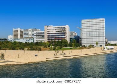 Basel, Switzerland - 27 August, 2016: embankment of the Rhine river, buildings of Novartis. Novartis International AG is a Swiss pharmaceutical company, based in Basel.