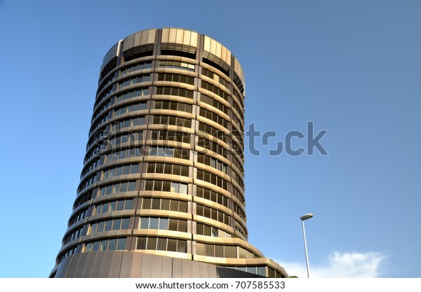 BASEL, SWITZERLAND - JUN 17: Bank for International Settlements (BIS) on June 17, 2013 in Basel, Switzerland. BIS is an international organization of central banks which fosters financial cooperation.