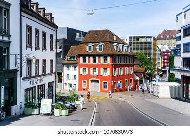 BASEL, SWITZERLAND - June 16, 2017: Old Town of Basel, Switzerland