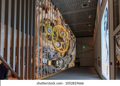 BASEL, SWITZERLAND - MARCH 22, 2018: Baselworld 2018 watch exhibition in Basel