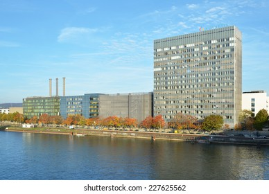 BASEL, SWITZERLAND - NOVEMBER 2, 2014: Novartis International AG is a Swiss multinational pharmaceutical company based in Basel, Switzerland, ranking number one in sales among the industry