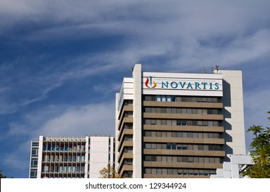 BASEL, SWITZERLAND - OCT 19: Novartis headquarters on October 19, 2012 in Basel, Switzerland. Novartis is a Swiss multinational pharmaceutical companyranking number two in sales Big Pharma in 2010.
