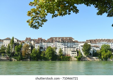 Basel, Switzerland on the Rhine River on a summer day