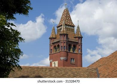 Basel Switzerland Rathaus clock tower