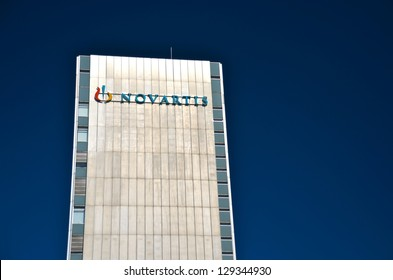 BASEL, SWITZERLAND - SEP 14: Novartis headquarters on September 14, 2012 in Basel, Switzerland. Novartis is a Swiss multinational pharmaceutical companyranking number two in sales Big Pharma in 2010.