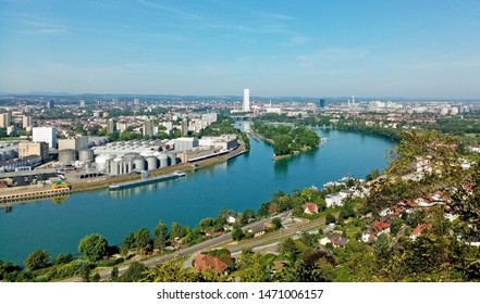 basel,switzerland with industrial Zone in front