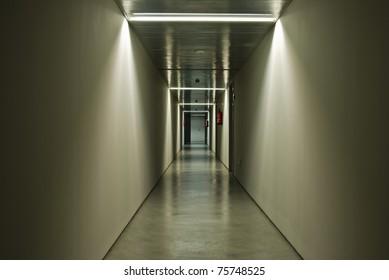 basement corridor