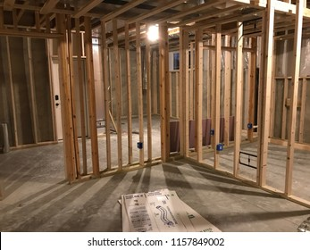 Basement Framing Construction Project