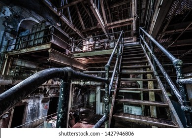 Basement, utilities and generator room of an abandoned psychiatric hospital (demolished in 2015)