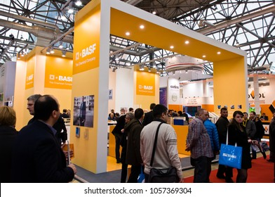 Basf booth at MosBuild 2013 Exhibition, april 2013, Moscow, Russia