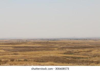 BASHIK FRONTLINE, KURDISTAN, IRAQ - 2015 JULY 25  - ISIS controlled positions at BASHIK (bashik) base 25km from controlled Mosul.