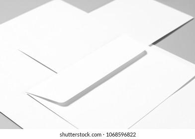 Basic blank stationery: paper, envelopes