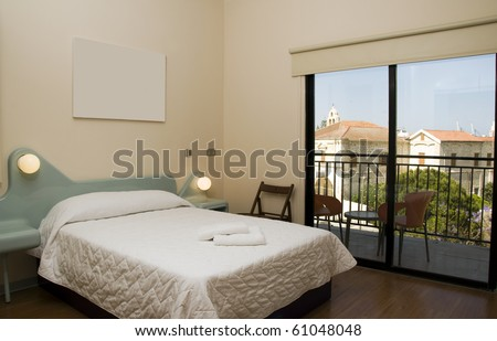 basic budget simple modern hotel room stock photo edit now