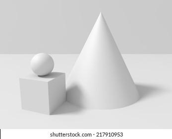 basic geometric shapes  composition