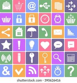 Basic icons set. Apps Smartphone sign icon. Stock illustration
