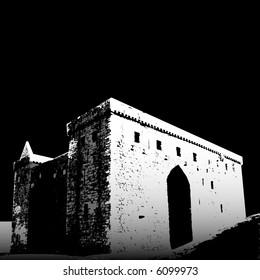 Basic rendering of Hermitage Castle