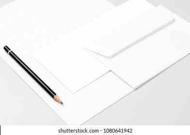Basic stationery: paper, envelopes, and pencil