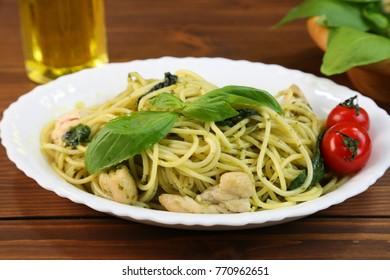 It is basil chicken pasta.