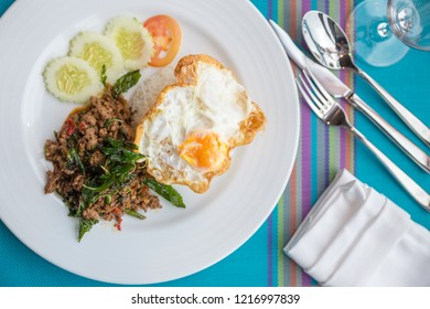 Basil Fried Rice on the table