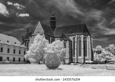Basilica of the Assumption of Our Lady, Brno made with a converted infrared camera