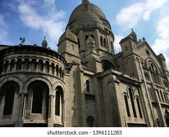 Sacré-Coeur Basilica from the back, Paris, France