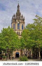 the Basilica of Begona in spanish city Bilbao