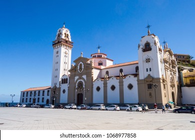 Basilica of the black virgin Candelaria on the island of Tenerife in SPAIN