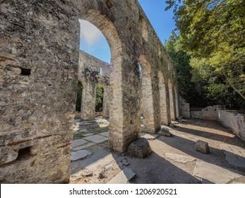 Basilica in Butrint ancient city, Albania