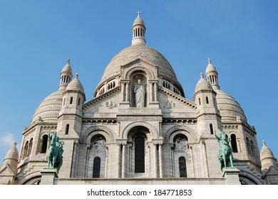 Basilica of Sacr�©-C��ur cathedral exterior, Paris, France