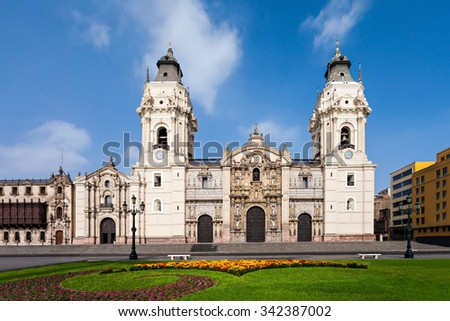 basilica cathedral lima roman catholic cathedral の写真素材 今すぐ